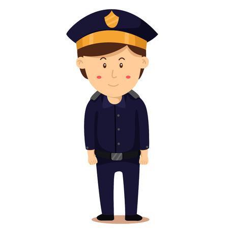 policewoman: Illustrator of police man