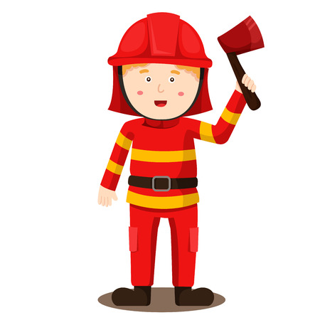 Illustration of fireman Illustration