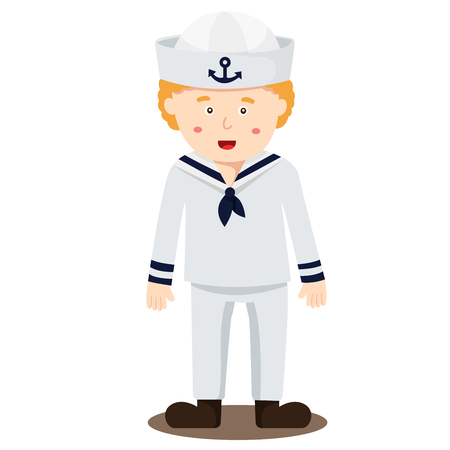 Illustration of sailor boy