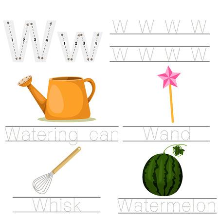 Illustration of Worksheet for children w font Illustration