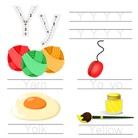 Illustrator of Worksheet for children y font Illustration