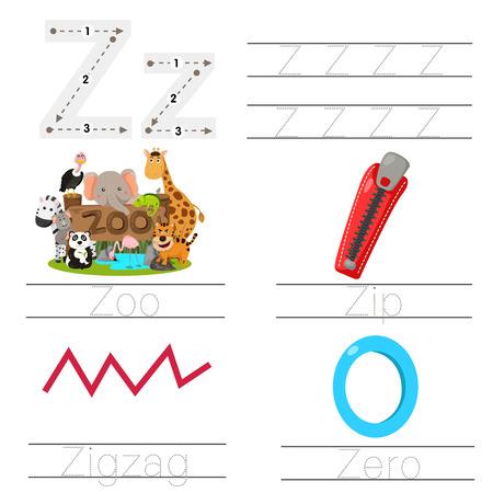 Illustration of Worksheet for children z font Illustration
