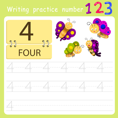 worksheet: worksheet Writing practice number four