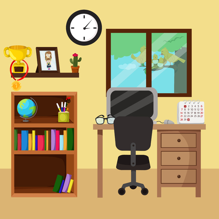 home office: Illustrator of home office