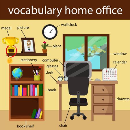 home office: Illustrator of vocabulary home office