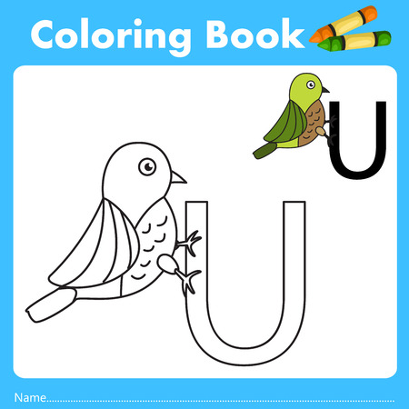 parting: Illustrator of color book with uguisu animal