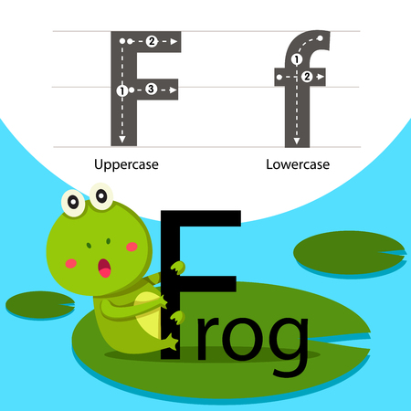 Illustrator of frog with a font Illustration