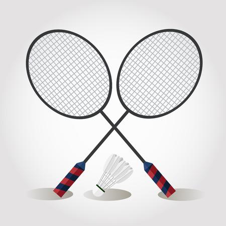 Illustrator of badminton Illustration