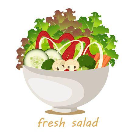 Illustrator of Vegetable salad