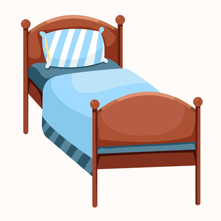 ged: illustrator of bed isolated Illustration