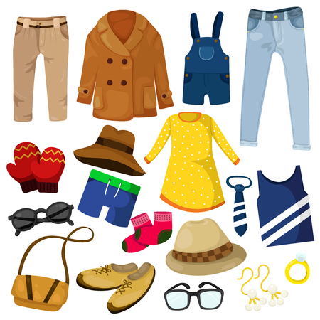 Illustrator of clothing women man and kid
