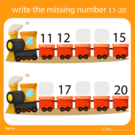 Illustrator Write the missing number 11-20