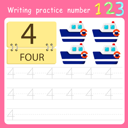 Worksheet Writing practice number four