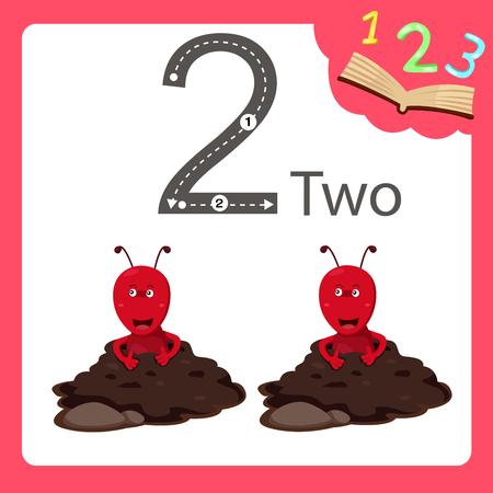 Illustrator of two number animal Illustration