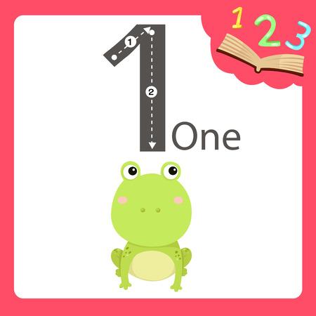 Illustrator of one number animal
