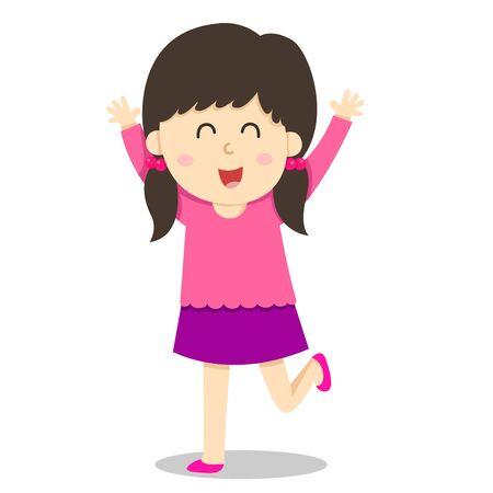 Illustrator of  girl smile and fun