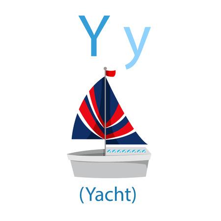 Illustrator of  Y for Yacht illustration.