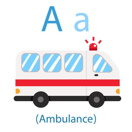 Illustrator of A for Ambulance Illustration