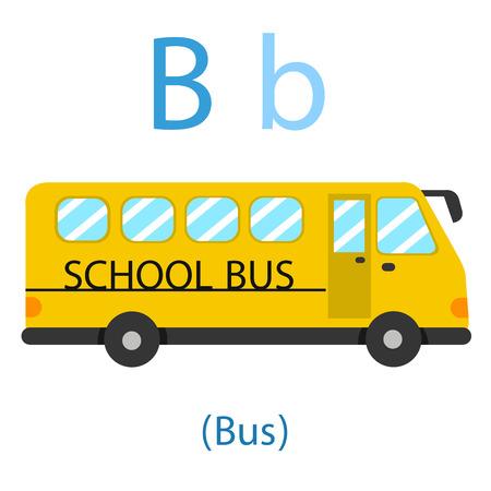 Illustrator of B for bus for school