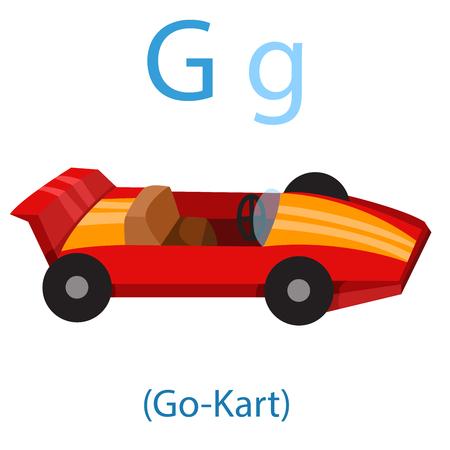 Illustrator of G for Go-Kart illustration. Illustration