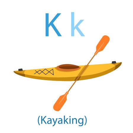 Illustrator of K for Kayaking