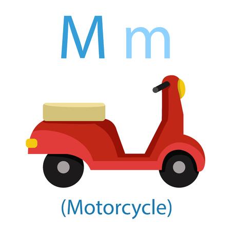 Illustrator of M for Motorcycle Illustration