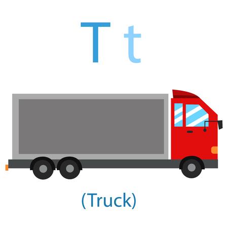 Illustrator of T for Truck