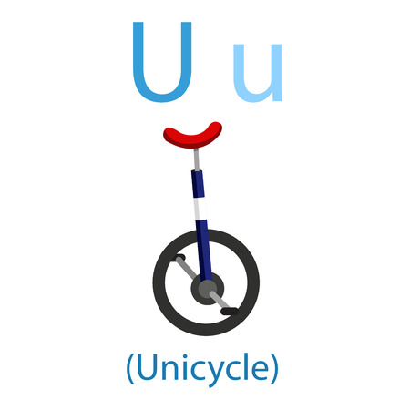 Illustrator of U for Unicycle