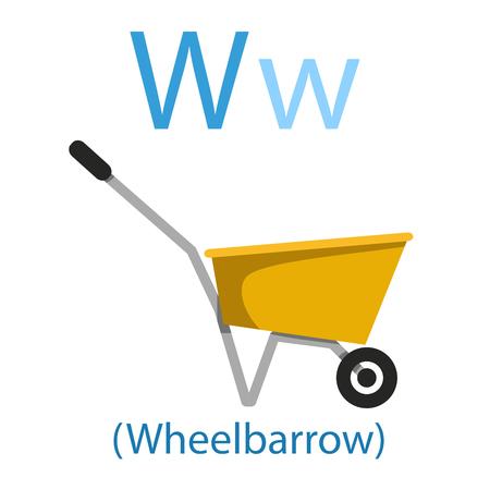 Illustratore di W per carriola
