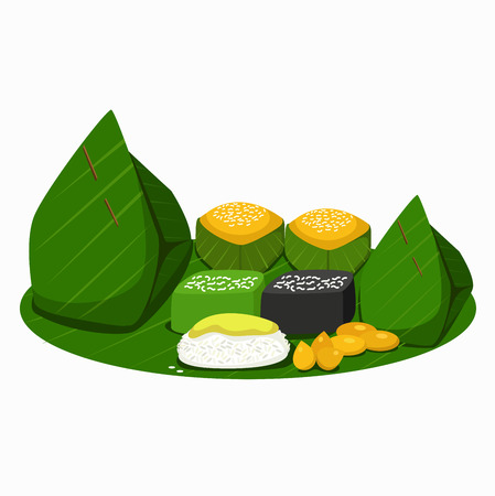 Illustration of Thai desserts.