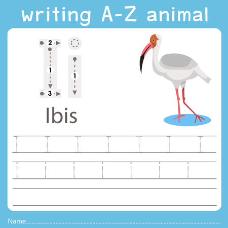 writing a-z animal i ibis