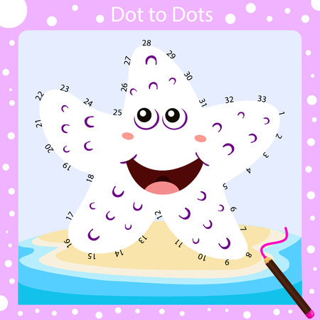 Illustrator of dot to dots worksheet three Иллюстрация