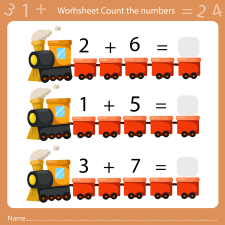 Illustrator of Worksheet Count the Number sheet four