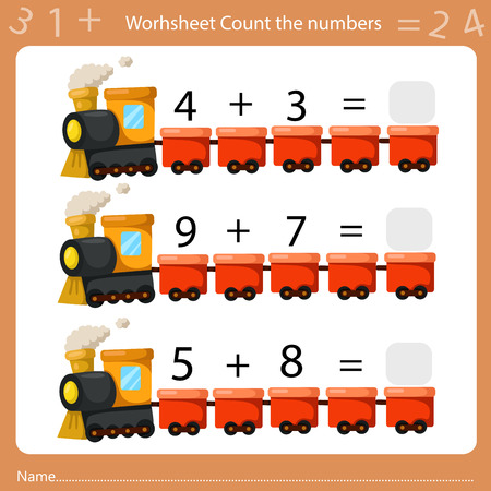 Illustrator of Worksheet Count the Number