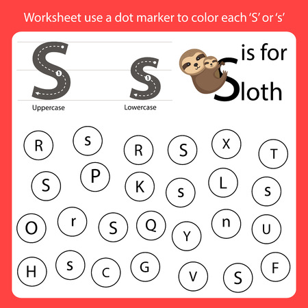 Find the letter Worksheet use a dot marker to color each S