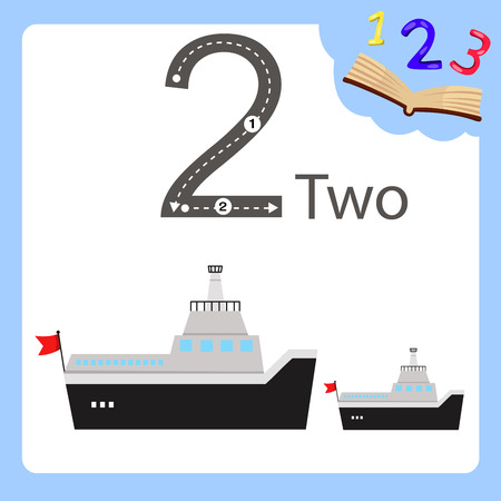 Illustrator of two number ferry Ilustração
