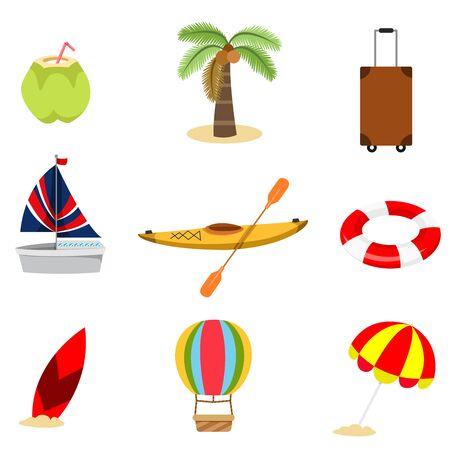 Illustrator of summer set two, vector illustration
