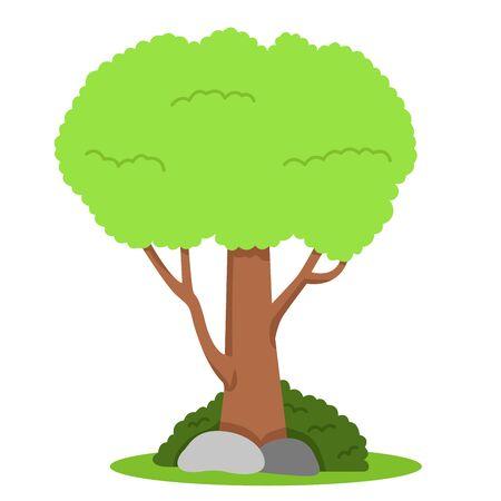 Illustrator of tree on the grass Иллюстрация