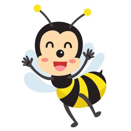 Illustrator of bee cute animal