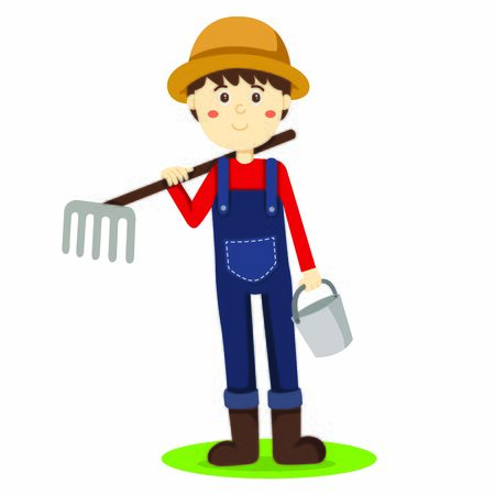 Illustrator of Farmer and tool Иллюстрация