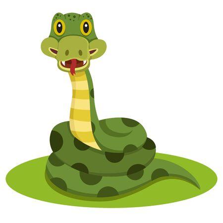 Illustrator of snake animal cartoon
