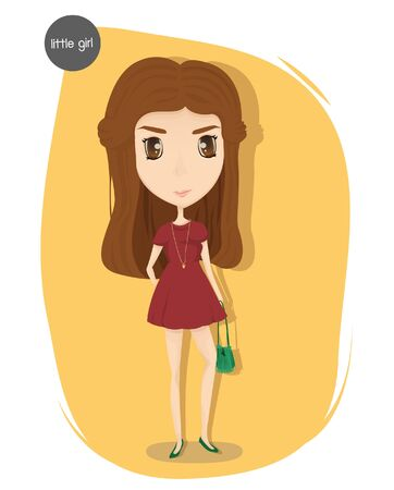 red dress: vector of woman in red dress