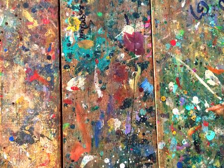 urban decay: olor splashes on wooden wall
