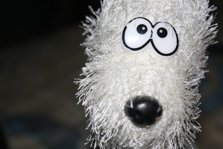 babyface: white dog doll Stock Photo