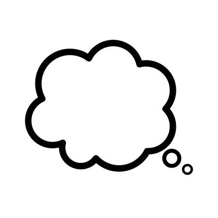 Icône de bulle de pensée. Icône de symbole de bulle de rêve