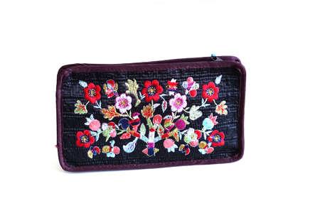 hand bag: flowers embroidery hand bag