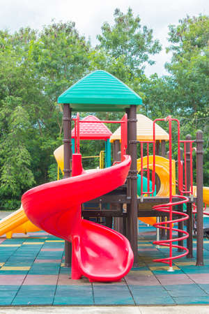 Colorful playground equipment at an outdoor park Stock Photo - 20414397