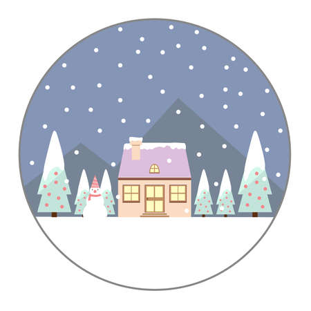 nigth: Christmas Day and snowman