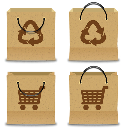 brown paper: Brown Paper Shopping Bag Set