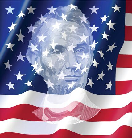 president of the usa: Abraham lincoln on United of America Flag, lincoln from Dollar Bill